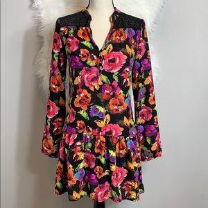 Paper Crane •• floral dress